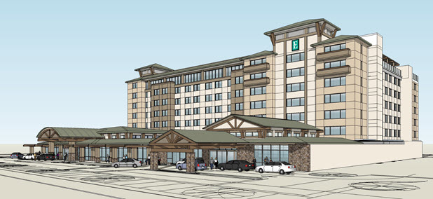 Proposed Hotel Conference Center for the spot currently occupied by University Park Inn and Caffe Italia