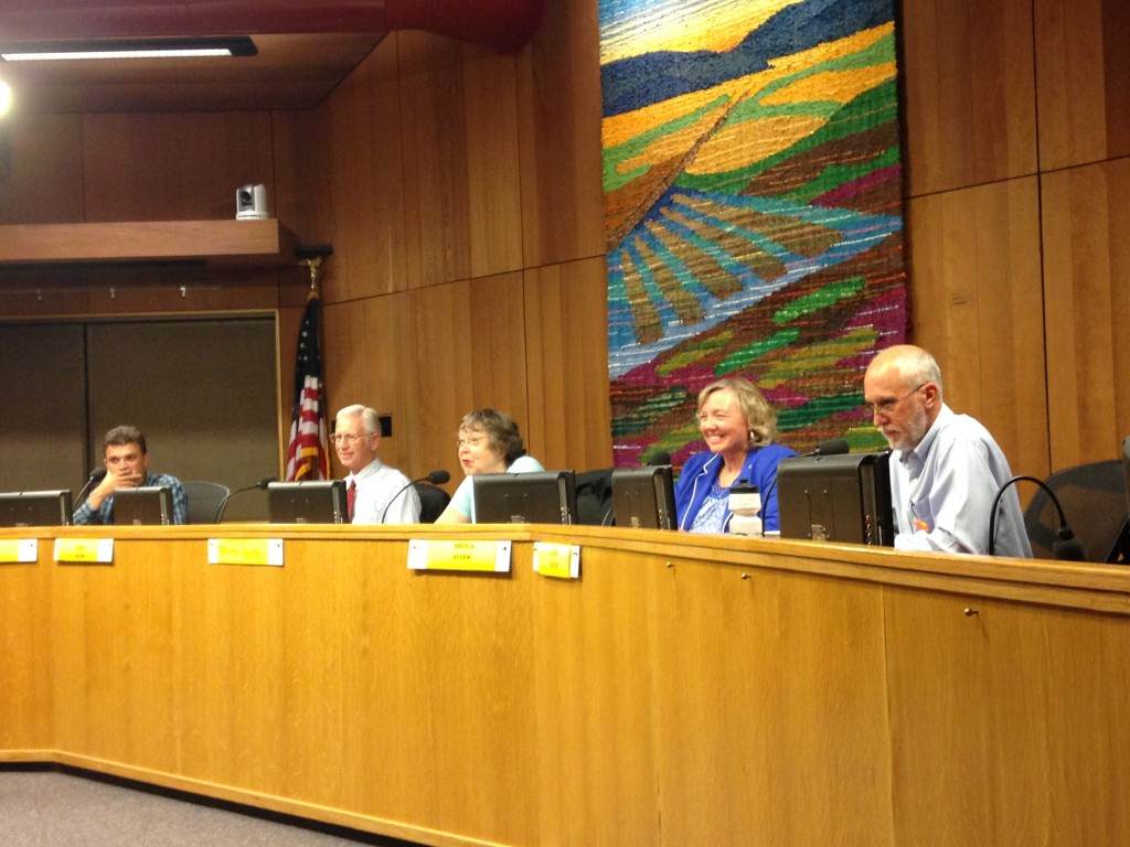 Four of the Davis City Council Candidates met on Wednesday night for a candidates' forum sponsored by the League of Women Voters.