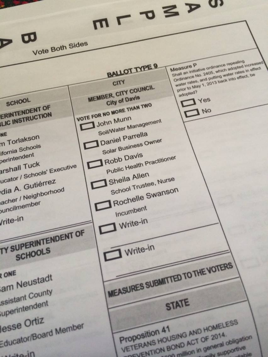 Sample ballot 2014