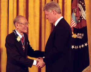 Fred Korematsu in 1998 wins the Presidential Medal of Freedom, he would die in 2005.