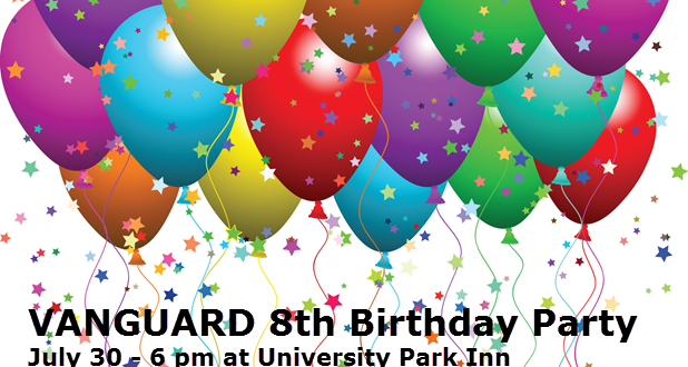 You are invited to the Vanguard 8th Birthday Party (July 30)