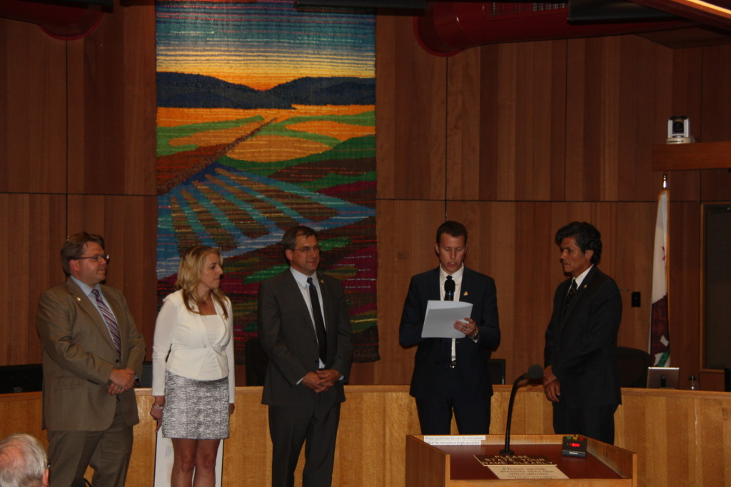 Council listens to the proclamation