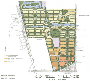 The massive Covell Village project was envisioned as the only major new project until 2010 - when it failed, there was no plan B.