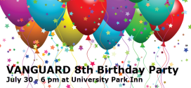 Reminder Vanguard 8th Birthday, Elizabeth Cantwell Keynote Speaker