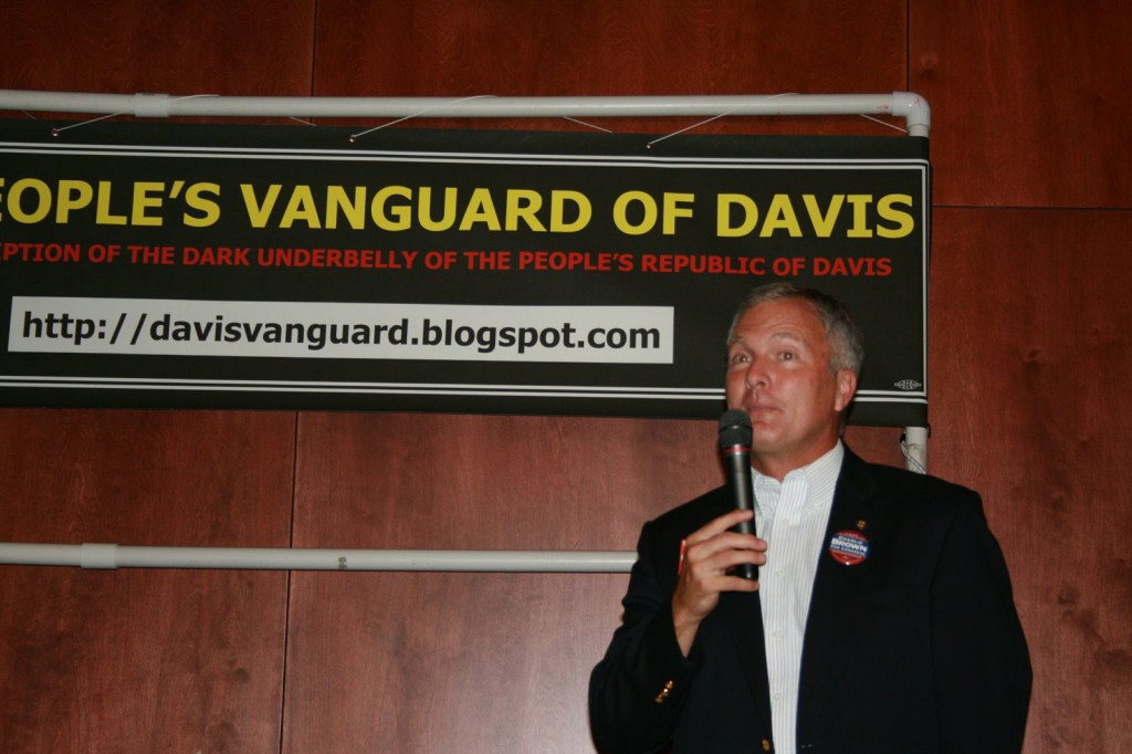 Charlie Brown who would narrowly lose in a bid for Congress in 2008, delivers the keynote address at the 2007 First Vanguard Birthday Celebration at the Odd Fellows Hall