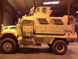 President Obama ordered a review Saturday of the federal 1033 program under which Davis acquired the MRAP