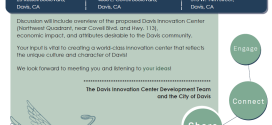 Davis Innovation Center Outreach Meeting on August 28