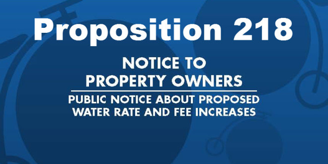 City Sends Out Official Prop 218 Notice, Hearing Sept. 16