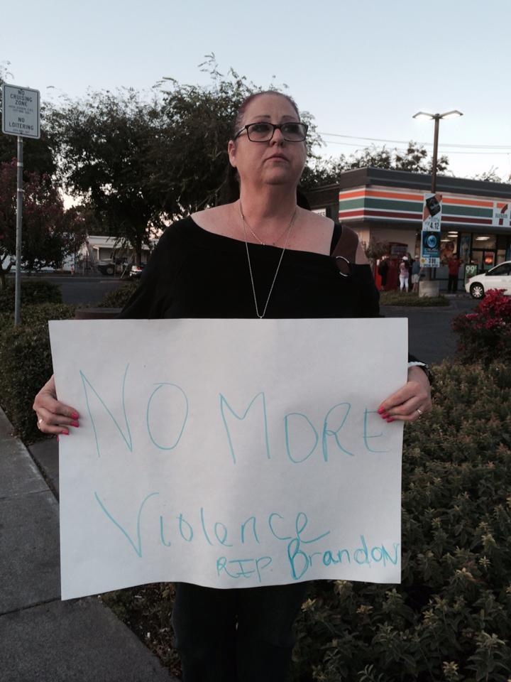 The mother of Brandon Jimenez who was shot and killed by Woodland Police on May 31