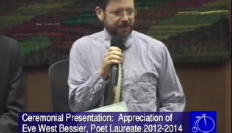 Poet Laureate Delivers Satire on MRAP (Video)
