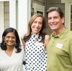 Madhavi Sunder, Gina Daleiden, Bill Weisgerber; Photo by Rik Keller