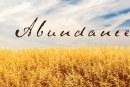An Attitude of Abundance