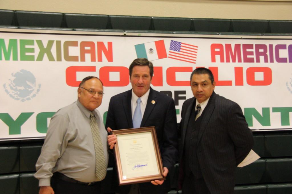 Congressman John Garamendi with Rick Gonzales Jr.