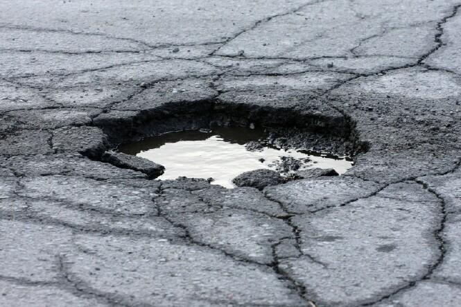 Pothole-stock