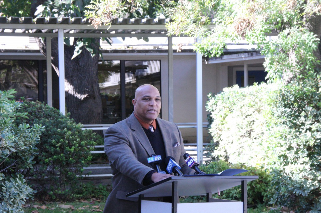Superintendent Winfred Roberson at the November press conference regarding John O'Brien's case