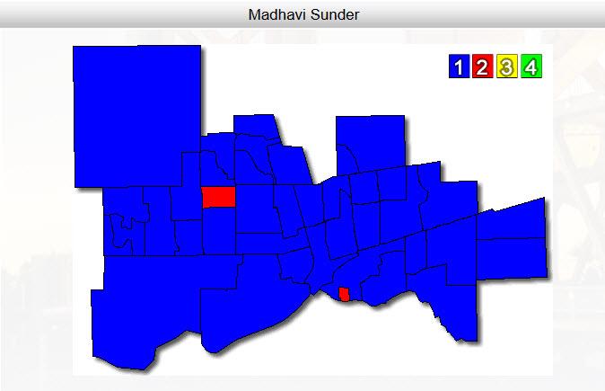 Madhavi Sunder's near sweep