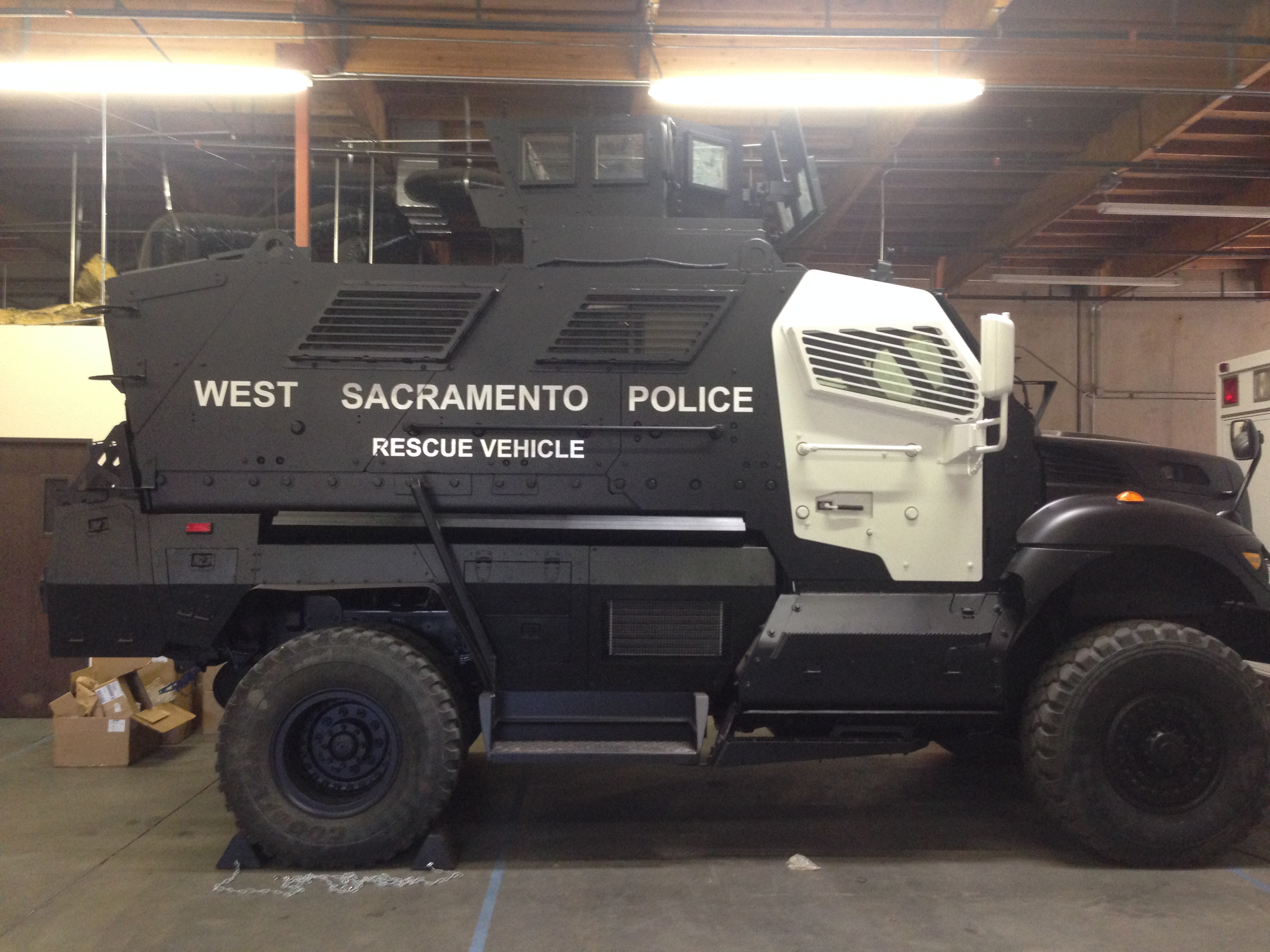 Davis-West Sac SWAT Team's new Armored Vehicle