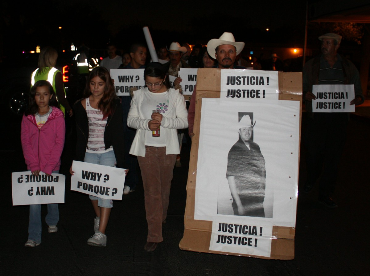 Family of Luis Gutierrez mourned the one year anniversary of his death in 2010
