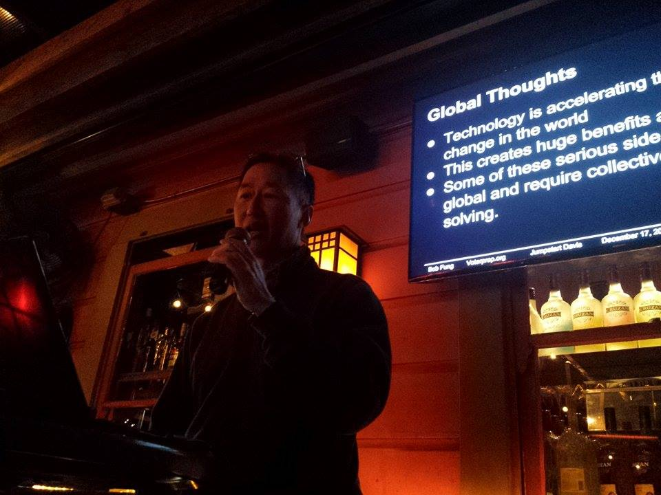 Bob Fung delievers his presentation on VoterPrep - courtesy photo