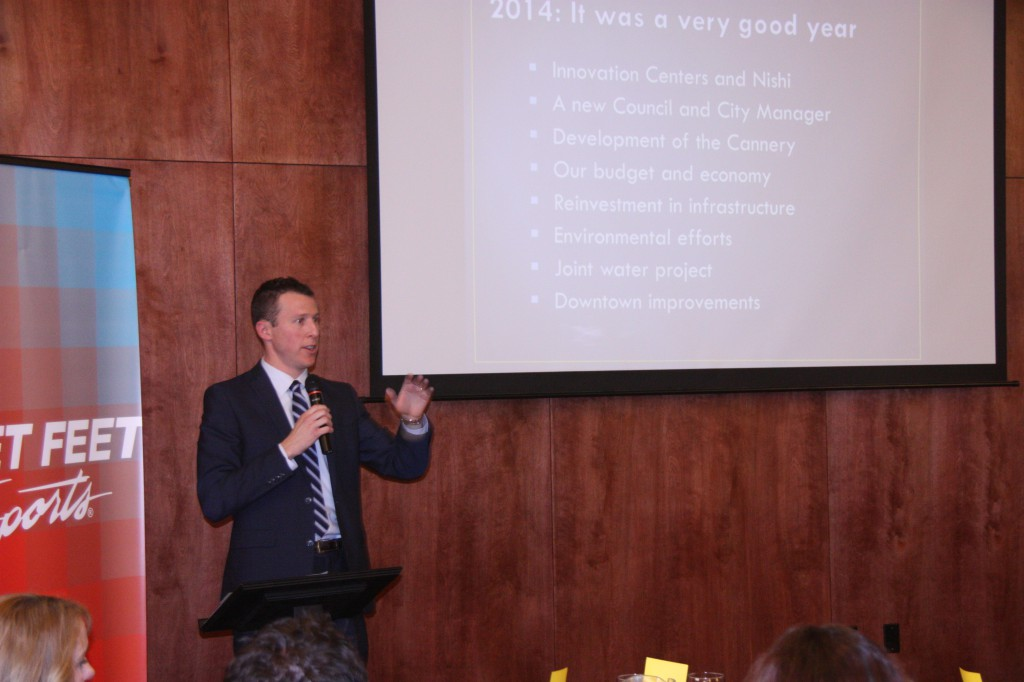 Mayor Wolk delivered the State of the City Address in January of last year