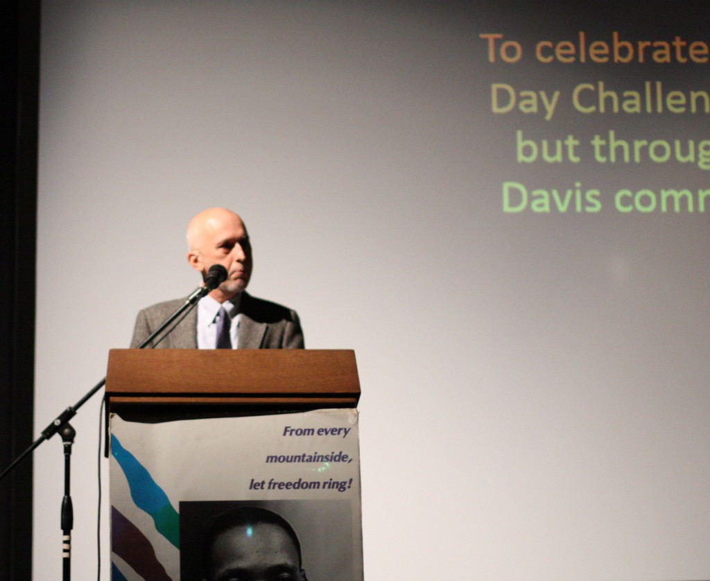 Mayor Pro Tem Robb Davis served as the emcee at the 2015 MLK Day.