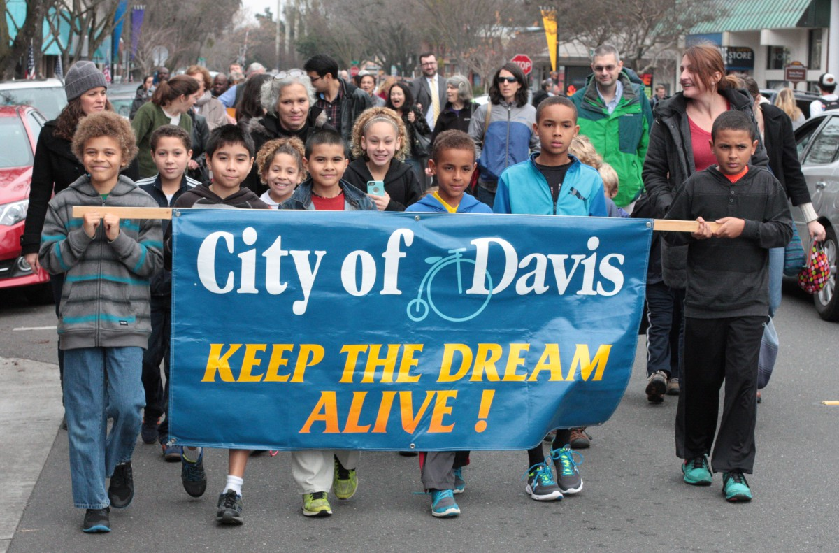 Marchers in Davis on Monday to Keep Martin Luther King's Dream alive while on Wednesday, the Supreme Court heard a case that could further dismantle the dream