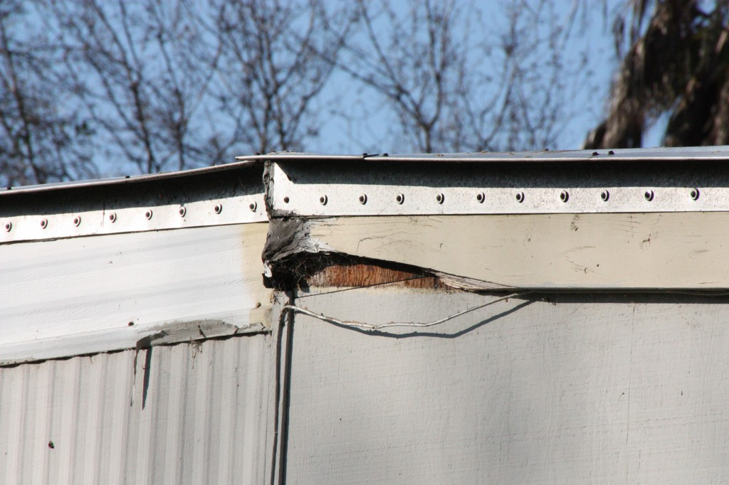 Poor condition of the trailer belies the notion that it was altered recently