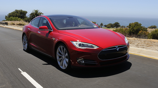 Tesla represents an innovative concept allowing electric cars to travel 265 miles between recharging.