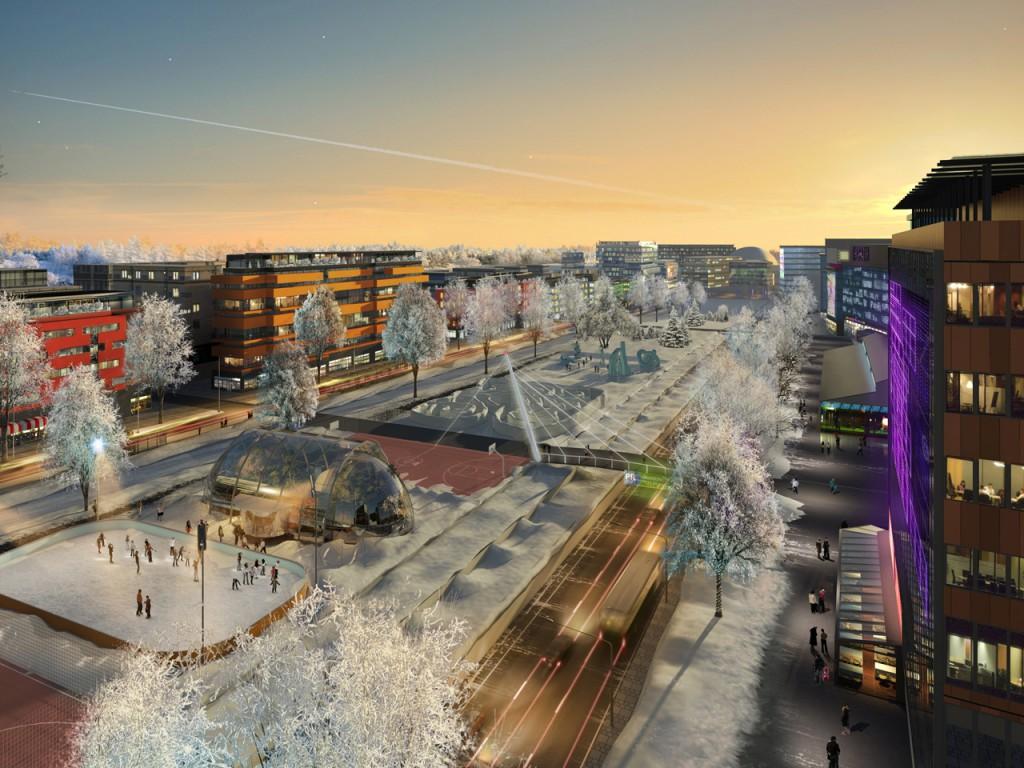Rendering of Helsinki in 2050