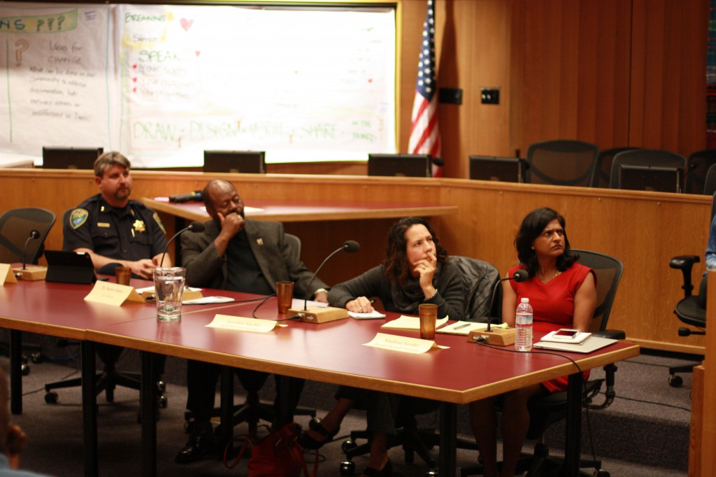The panel listened intently to some of the stories they heard.