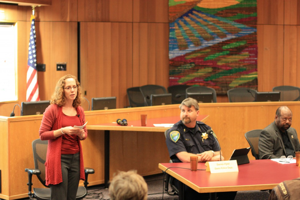 Facilitator with Assistant Chief Darren Pytel (center) and UC Davis Vice Chancellor Rahim Reed (right)