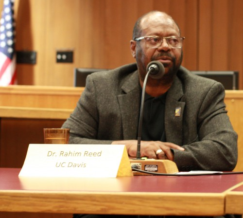 UC Davis Vice Chancellor Rahim Reed at the Breaking the Silence Event