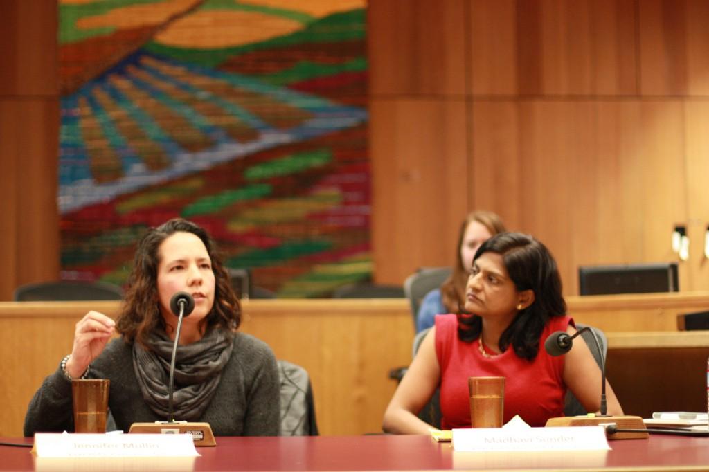 DJUSD Counselor Jennifer Mullen with Madhavi Sunder (right)
