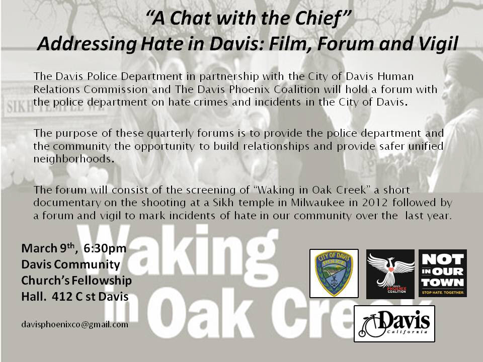 A Chat with the Chief: Addressing Hate in Davis