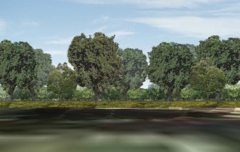 The view looking South from Binning proposed under the Innovation Park plan