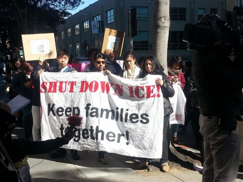 Courtesy Photo - protestors in San Francisco following the March 3 conviction of Nan-Hui Jo
