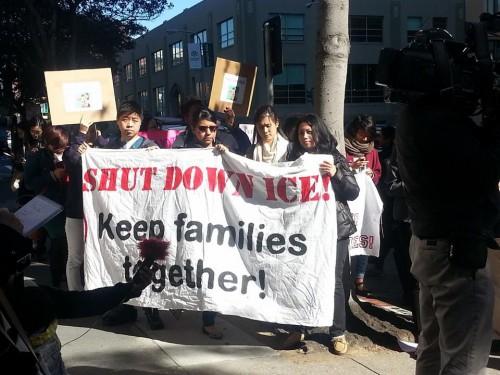 Courtesy Photo - protestors in San Francisco following the March 3 conviction of Nan-Hui Jo