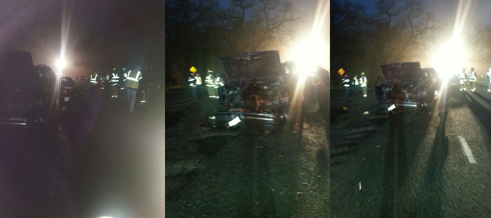 Photos taken the night of the accident show the extent of the damage to the Yukon
