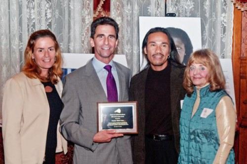 Senator Leno  receives a Justice Seeker Award from the Center for Judicial Excellence (CJE) in 2009.  He is pictured with Kathleen Russell (left), who is keynote speaker on May 9.