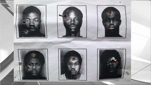 The mugshots that were used for target practice by a Florida police department