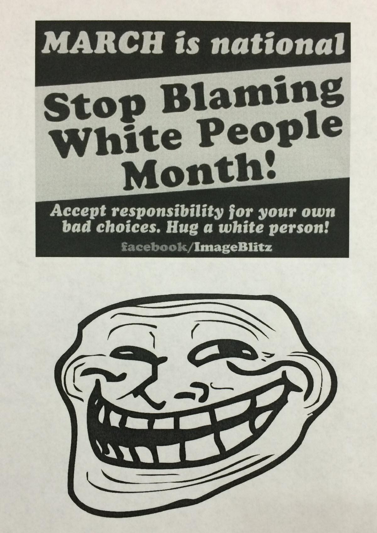 StopBlamingWhitePeopleMonth