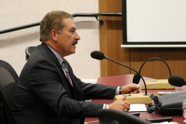 Chief Black speaks before council