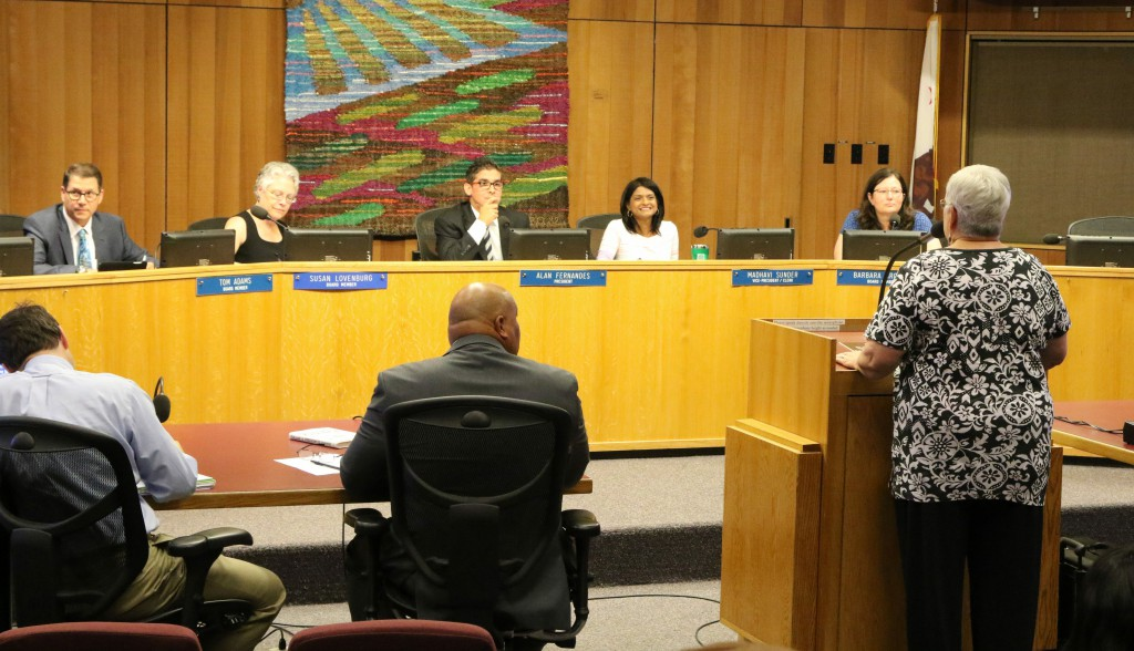 The Board listening to public comment
