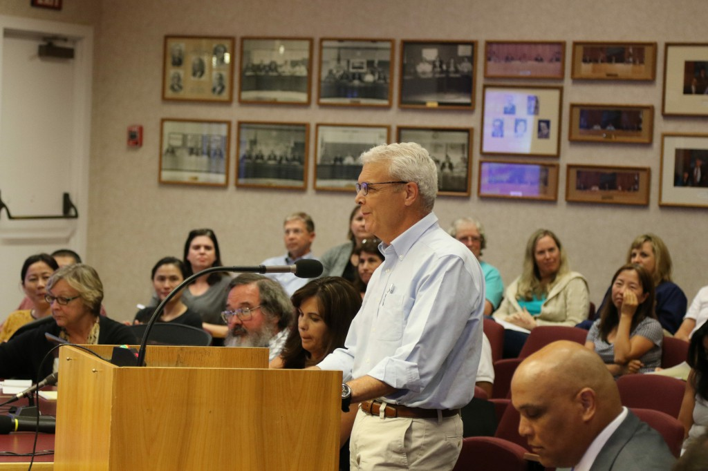 Former Board Candidate Bob Poppenga asked the board some tough questions