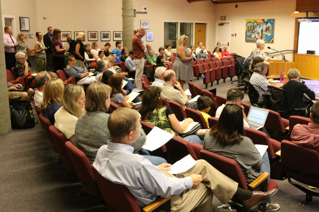 A large July contingent showed up to express their views of the changes to the AIM program