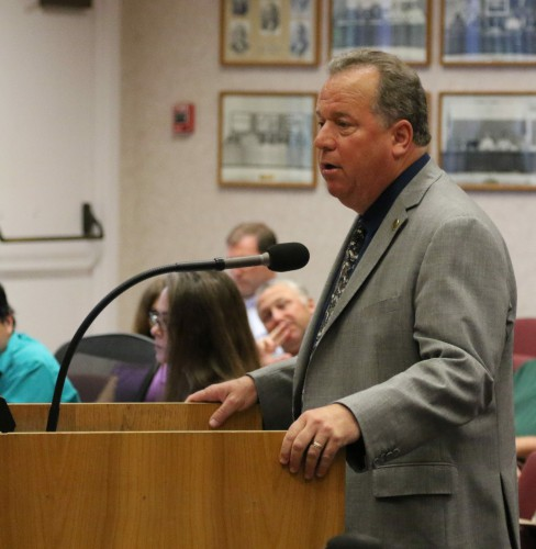 Bill Dodd speaking before Davis City Council in July just prior to his announcement