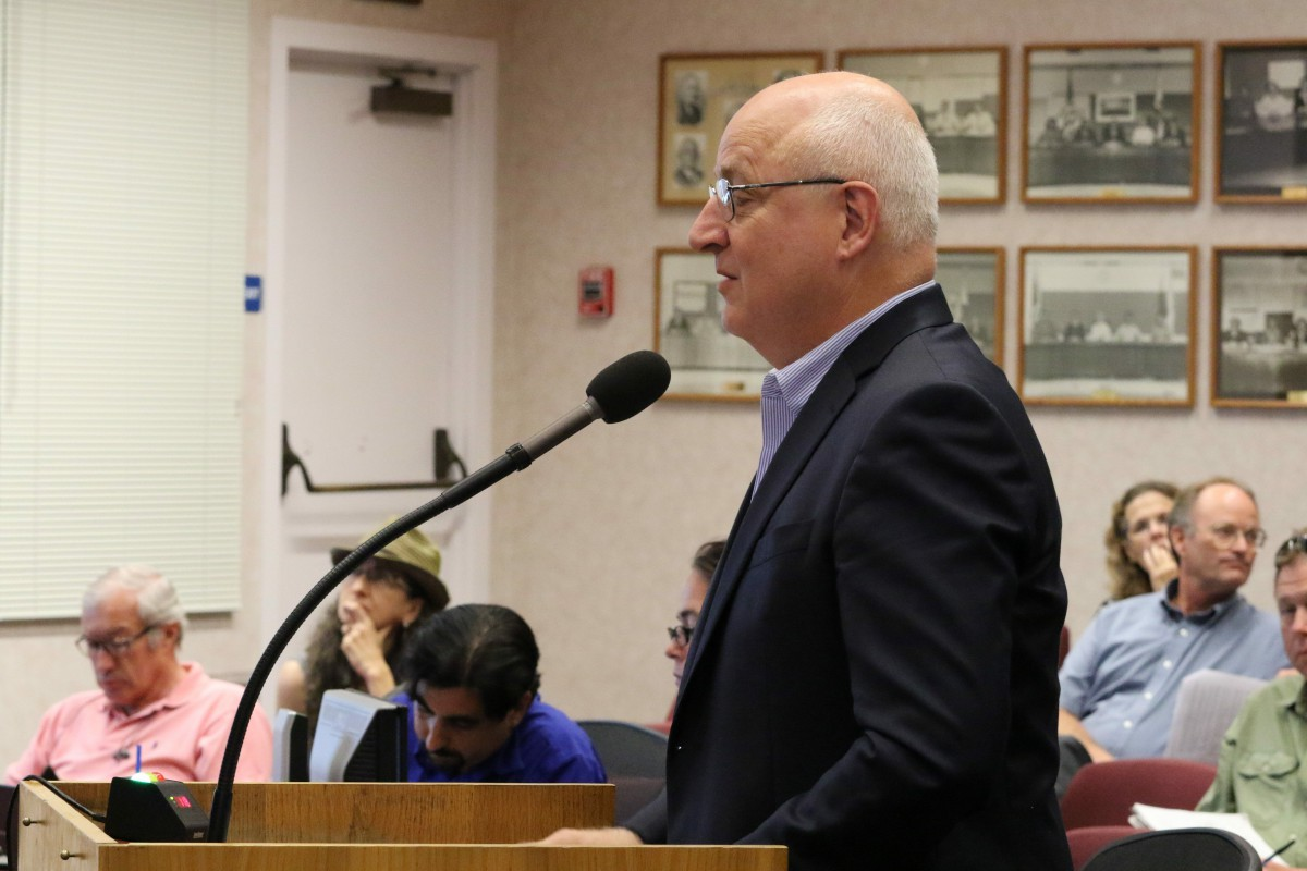 Former City Councilmember Michael Harrington raised legal issues that suggested a potential law suit at the same meeting