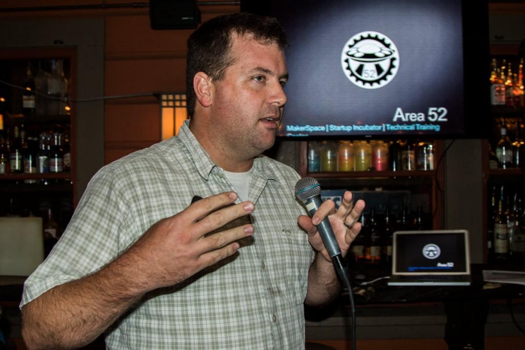 Tim Keller presents at Jumpstart on Wednesday evening