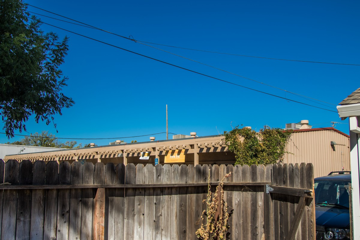 This is the view from the backyard of the neighbor located at the southeast corner of the alleyway