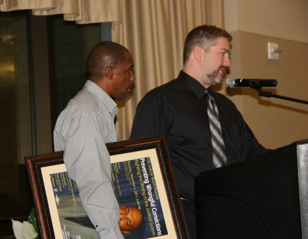 Maurice Caldwell Being Introduced by David Greenwald at 2011 Event